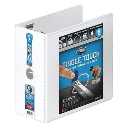 "5"" D-Ring Binder,  Ultra Duty,  White"