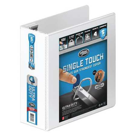 Ultra Duty Binder, View, D-Ring, 4in, White