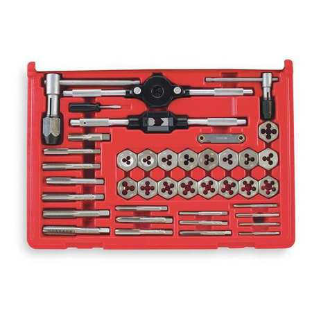 Tap and Die Set, 40 pc, Carbon Steel