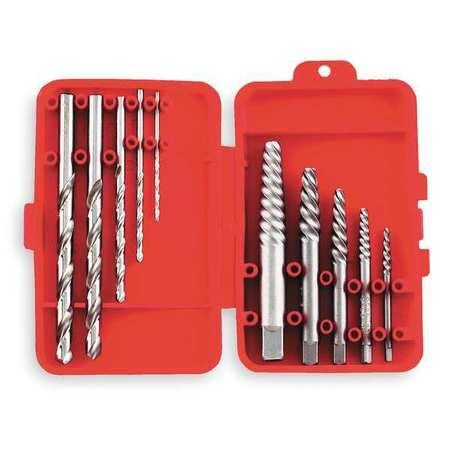 Screw Extractor Set, Spiral Flute, 10 Pcs