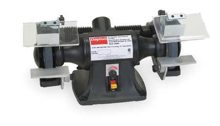 Bench Grinder, 6 In, 1/3 HP, Var 2000-3300