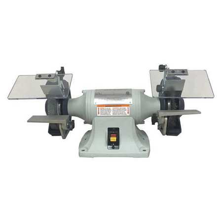Bench Grinder, 6 In, 1/4 HP, 115V, 3 A