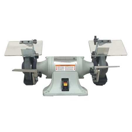 Bench Grinder, 6 In, 1/3 HP, 115V, 3.5 A