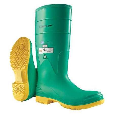 "Knee Boots, Sz 10, 16"" H, Green, Stl, PR"