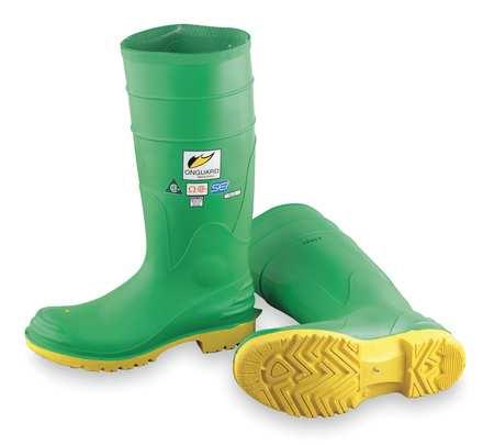 "Knee Boots, Sz 8, 15"" H, Green, Stl, PR"