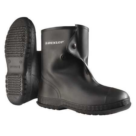 Overboots, Mens, M, Button, Blk, PVC, PR