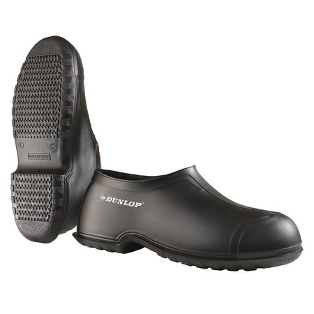 Overshoes, Men, L, Pull On, Blk, PVC, PR