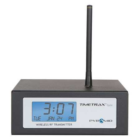 "14"" RF Transmitter Desktop Clock,  Black"