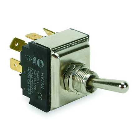 Toggle Switch, 3PST, 15A @ 277V, QuikConnct