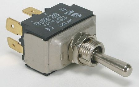 Toggle Switch, DPST, 15A @ 277V, QuikConnct