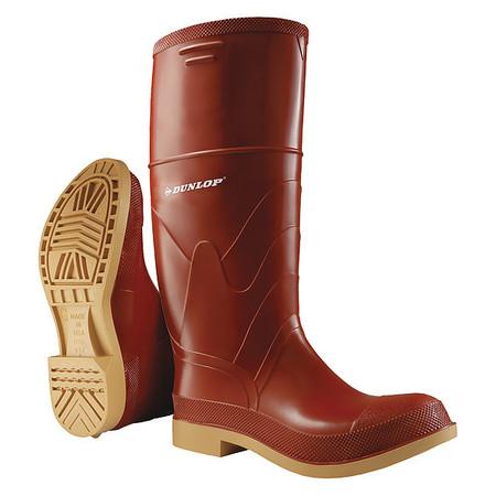 "Knee Boots, Sz 11, 15"" H, Br Red, Stl, PR"