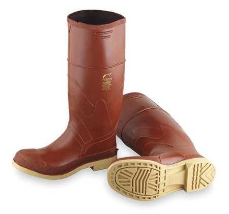 "Knee Boots, Sz 7, 15"" H, Br Red, Stl, PR"