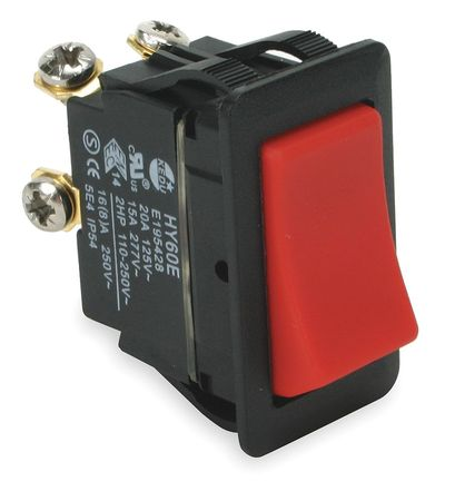 Rocker Switch, DPST, 4 Connections