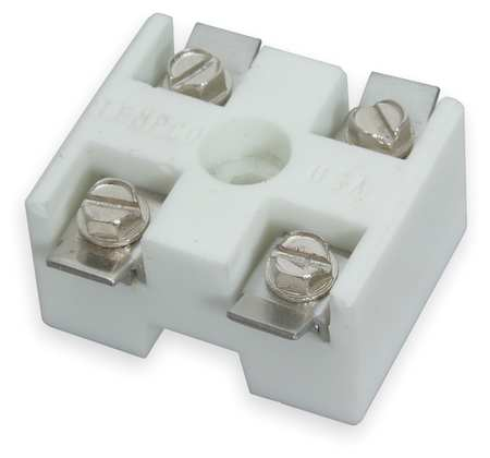Ceramic Terminal Block, 1-1/4x1-9/16 in.