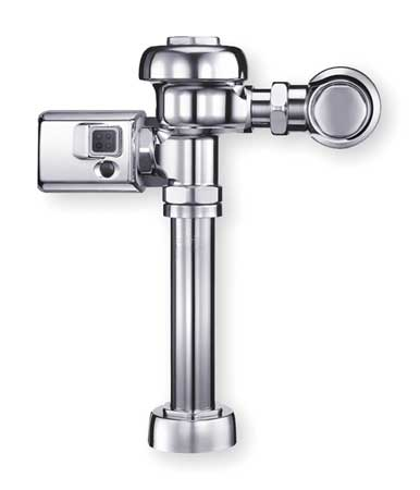 "Automatic Flush Valve,  Toilet,  3.5 gpf,  Inlet Size 1"",  Spud Coupling Size 1-1/2"""