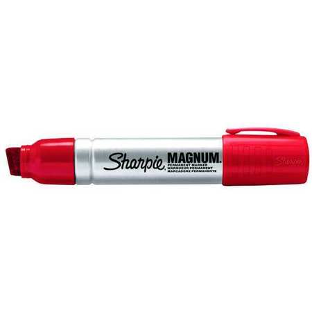 Permanent Marker,  Oversized Chisel Tip Red PK12