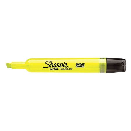 Smear Guard Highlighter,  Chisel Tip Yellow