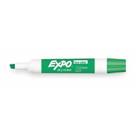 Dry Erase Marker,  Chisel Tip,  Green PK12 Low Odor