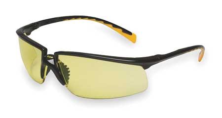 3M Amber Safety Glasses,  Anti-Fog,  Half-Frame