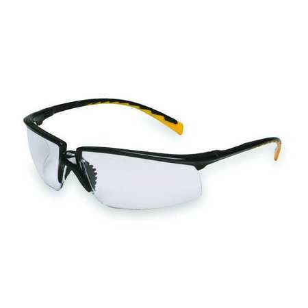 3M Clear Safety Glasses,  Anti-Fog,  Half-Frame