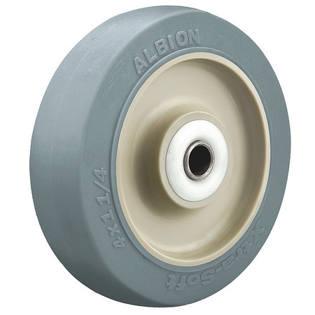 Caster Wheel, Blue, 70 Shore A, 1/2 in Bore