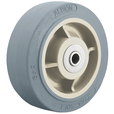 Caster Wheel, TPR, 8 in., 500 lb., Blue