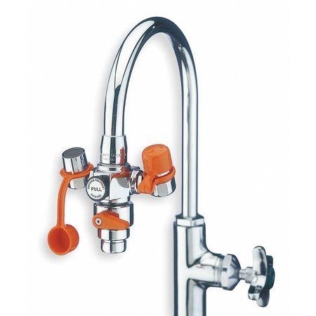Eyewash w/Diverter, Faucet Mount, 4-1/4 W