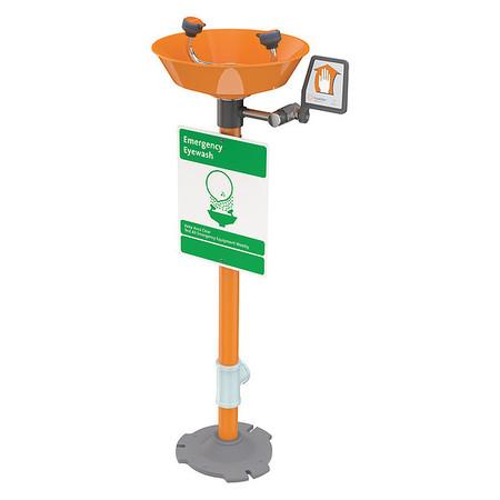 Eyewash Station, Pedestal Mnt, Plastic, 16W