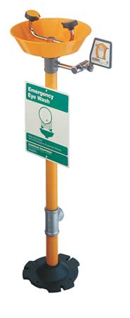 Eyewash Station, Pedestal, Plastic, 15-1/2W