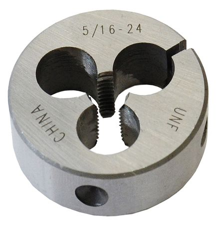 Rd Adjustable Die, CS, 5/16-24, 1-1/2 In OD