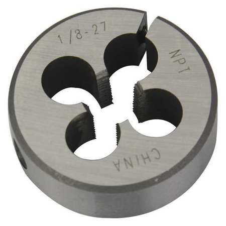 Rd Adjustable Die, CS, 1/8-27, 1-1/2 In OD