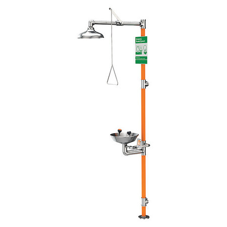 Drench Shower With Eyewash, 16 In. W
