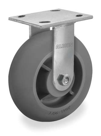 Rigid Plate Caster, TPR, 6 in., 600 lb.