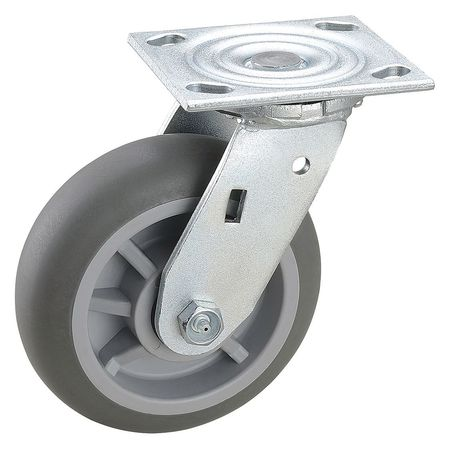 Swivel Plate Caster, 600 lb., Ball