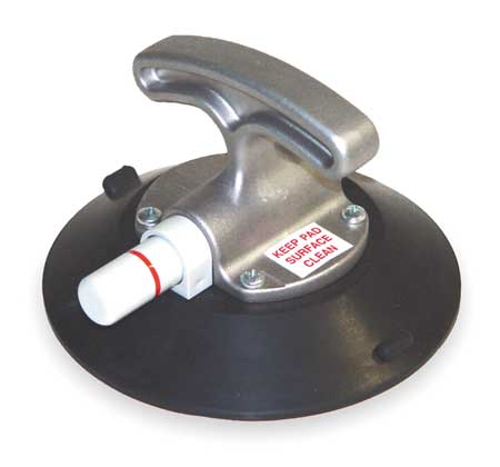 Suction Cup Lifter, 6 In Dia, T-Handle