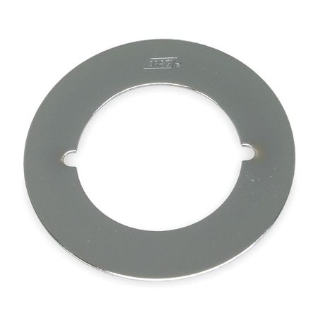 Cover Plate, O.D.3-1/2 In.,  Chrome, PK2
