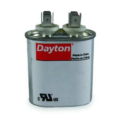 Motor Run Capacitor, 25 MFD, 4-5/8 In. H