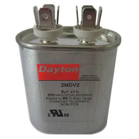 Run Capacitor, 6 MFD, 370V, Oval