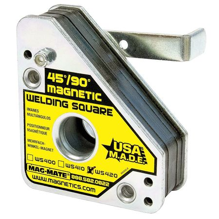 Magnetic Weld Square, 3-3/4x4-3/8in, 150lb