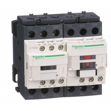 120VAC Reversing IEC Magnetic Contactor 3P 32A