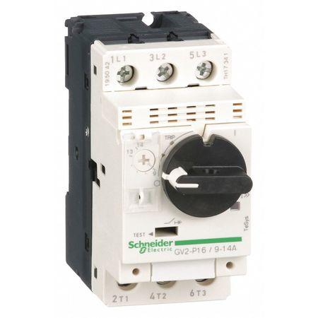 SCHNEIDER ELECTRIC GV2P16 Manual Motor Starter,Knob,9 to 14A,3P
