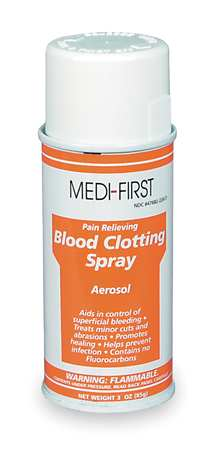 Blood Clotting Spray, Can, 3 oz.