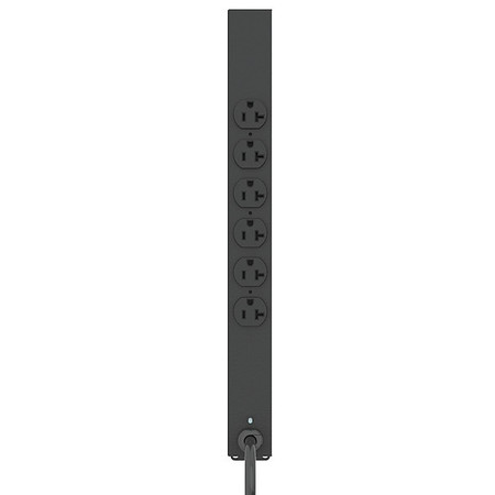 PDU, 125V, 6 Outlet, 6 ft., Black