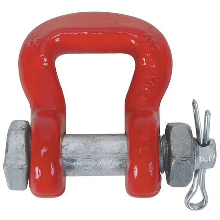 Alloy Safety Shackle, Round Pin, 70000 lb.