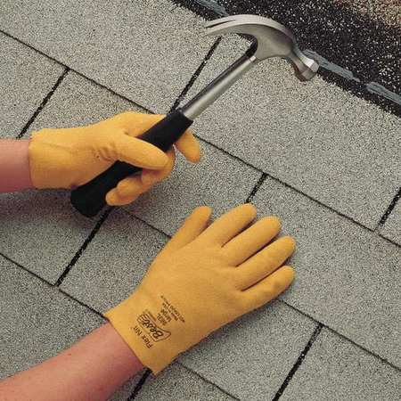 Coated Gloves, M, Yellow, PR