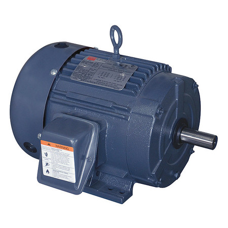 Mtr, 3 Ph, 3 HP, 3500, 208-230/460V, Eff 86.5