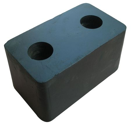 Trailer/Crane Dock Bumper, Rubber, PK2