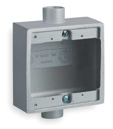 Weatherproof Box, 2Inlet, Malleable Iron