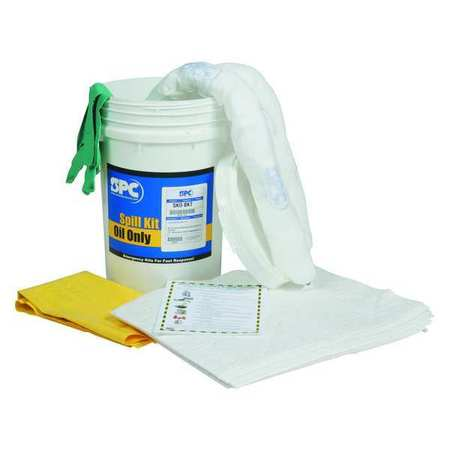Spill Kit,  Oil-Based Liquids,  White