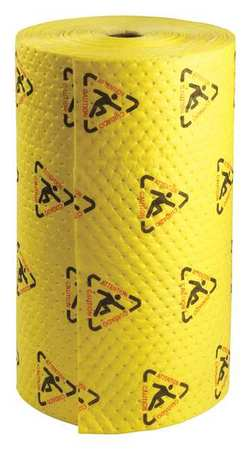 Absorbent Roll, Yellow, 40 gal., 30 In. W